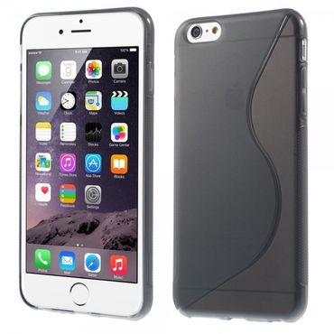 iPhone 6 Plus/6S Plus Elastisches Plastik Case S-Curve - grau