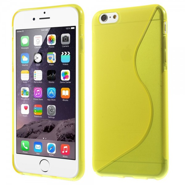 iPhone 6 Plus/6S Plus Elastisches Plastik Case S-Curve - gelb