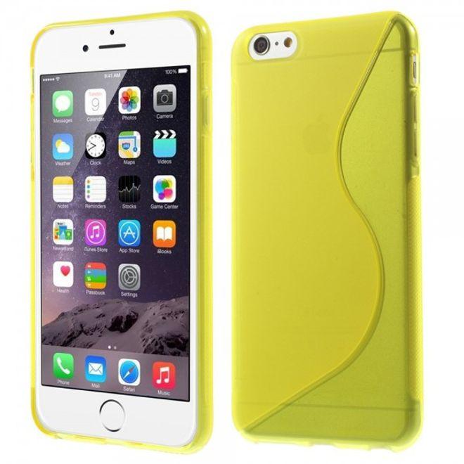 iPhone 6 Plus/6S Plus Elastisches Plastik Case S-Curve - gelb