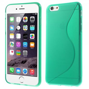 iPhone 6 Plus/6S Plus Elastisches Plastik Case S-Curve - cyan