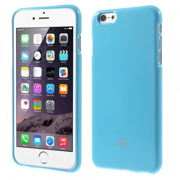 Goospery iPhone 6 Plus/6S Plus Glitzerndes, elastisches Mercury Plastik Case - hellblau