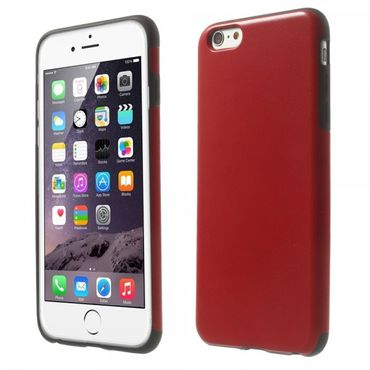 iPhone 6 Plus/6S Plus Lederartiges Crazy Horse Plastik Case - rot