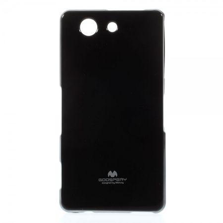 Mercury Goospery - Sony Xperia Z3 Compact Handy Hülle - Case aus elastischem Plastik - Pearl Jelly Series - schwarz