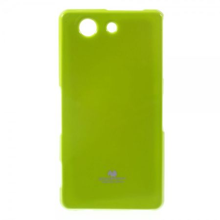 Goospery - Sony Xperia Z3 Compact Handy Hülle - TPU Soft Case - Pearl Jelly Series - lime