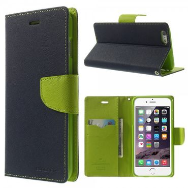 iPhone 6 Plus/6S Plus Mercury Leder Case - dunkelblau