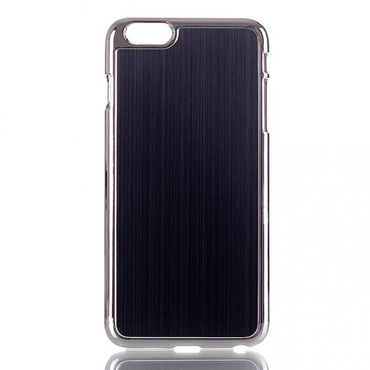 iPhone 6 Plus/6S Plus Hart Plastik Case im Aluminiumlook - schwarz