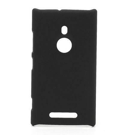 Nokia Lumia 925 Gummiertes Hart Plastik Case - schwarz
