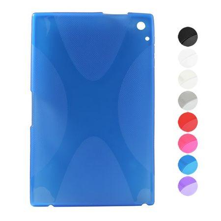 Nokia Lumia 2520 Elastisches Plastik Case X-Shape - blau