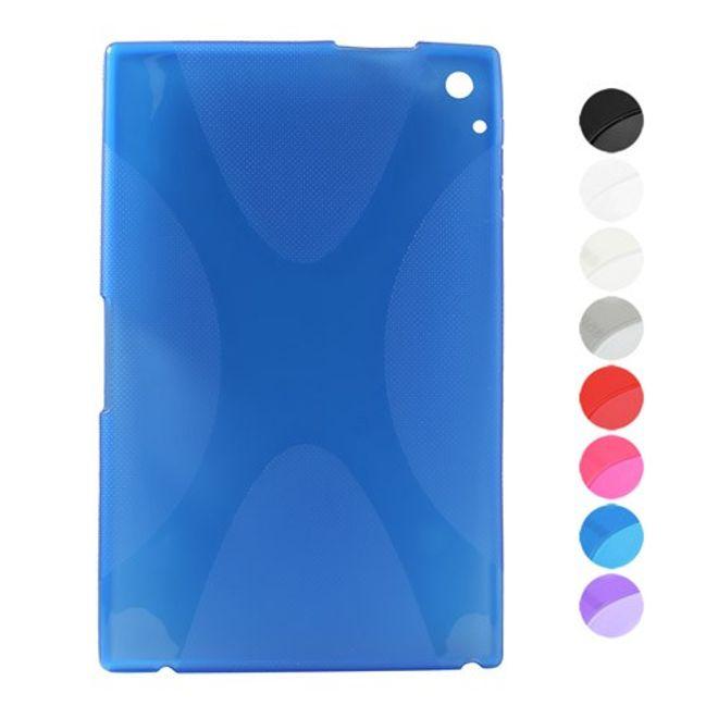 MU Classic Nokia Lumia 2520 Elastisches Plastik Case X-Shape - schwarz