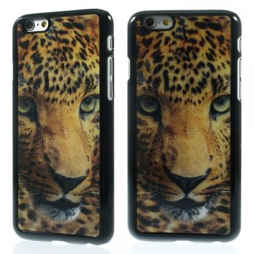 iPhone 6/6S Hart Plastik Case mit 3D Leopardenkopf