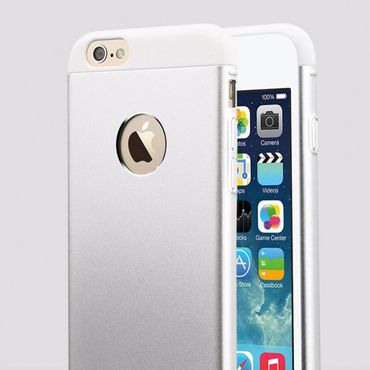 iPhone 6/6S TOTU Knight Series Aluminium und Plastik Hybrid Case - grau