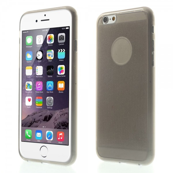 iPhone 6/6S Elastisches Plastik Case mit Pudermuster - grau