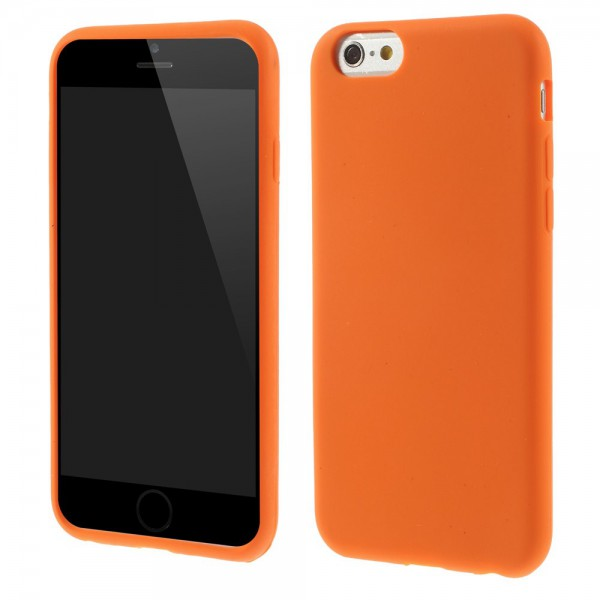 iPhone 6/6S Weiches Silikon Case - orange