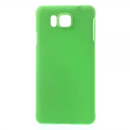 Samsung Galaxy Alpha Gummiertes Hart Plastik Case - grün