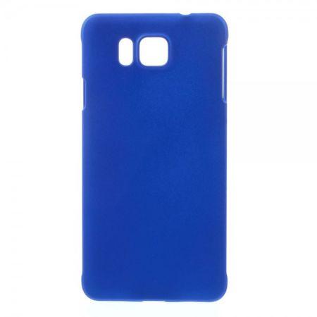 Samsung Galaxy Alpha Gummiertes Hart Plastik Case - dunkelblau