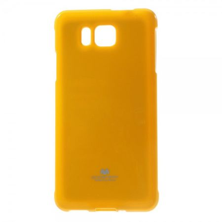 Goospery - Samsung Galaxy Alpha Handy Hülle - TPU Soft Case - Pearl Jelly Series - gelb