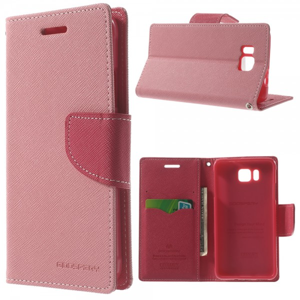 Goospery Samsung Galaxy Alpha Modisches Mercury Leder Case - pink