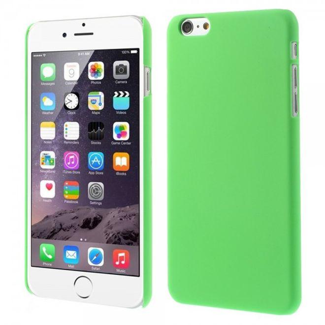 iPhone 6 Plus/6S Plus Gummiertes Hart Plastik Case - grün