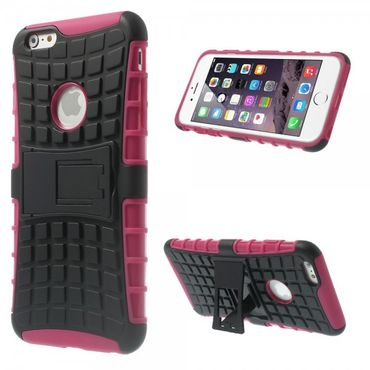 iPhone 6 Plus/6S Plus Robustes Anti-Rutsch Plastik Case - rosa