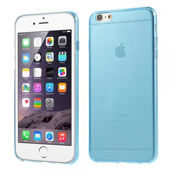 iPhone 6 Plus/6S Plus Ultradünnes (0,4mm), elastisches Plastik Case Anti-Rutsch - blau