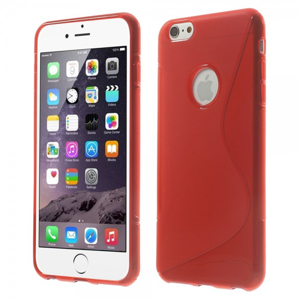 iPhone 6 Plus/6S Plus Elastisches Plastik Case S-Line - rot
