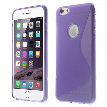 iPhone 6 Plus/6S Plus Elastisches Plastik Case S-Line - purpur