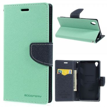 Sony Xperia Z3 Modisches Mercury Leder Case - cyan