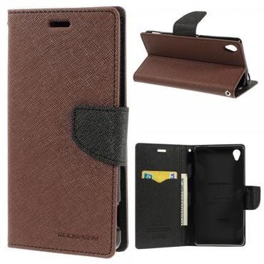 Sony Xperia Z3 Modisches Mercury Leder Case - braun