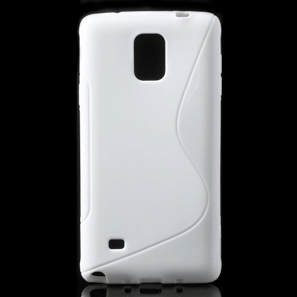 Samsung Galaxy Note 4 Elastisches Plastik Case S-Line - weiss