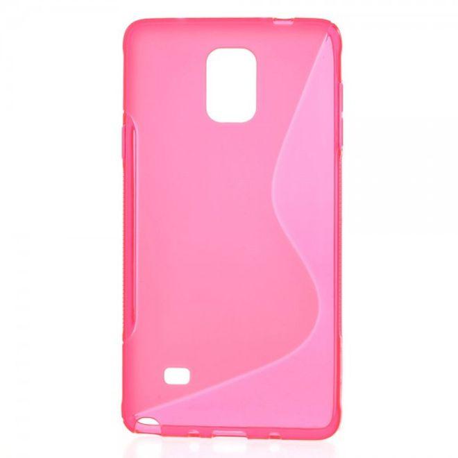 Samsung Galaxy Note 4 Elastisches Plastik Case S-Line - rosa