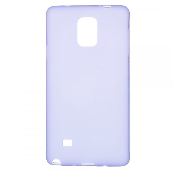 Samsung Galaxy Note 4 Mattes, elastisches Plastik Case - purpur