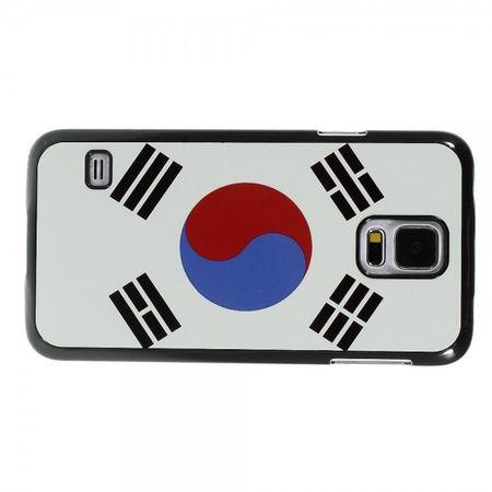 Samsung Galaxy S5 Hart Plastik Case mit Südkorea Flagge