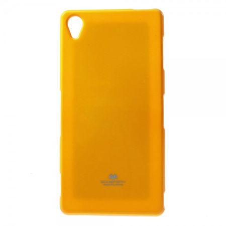 Sony Xperia Z3 Glitzerndes, elastisches Mercury Plastik Case - orange