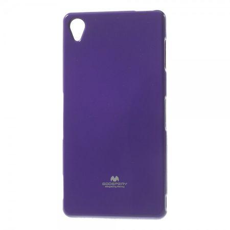 Mercury Goospery - Sony Xperia Z3 Handy Hülle - Case aus elastischem Plastik - Pearl Jelly Series - purpur