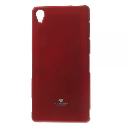 Mercury Goospery - Sony Xperia Z3 Handy Hülle - Case aus elastischem Plastik - Pearl Jelly Series - rot