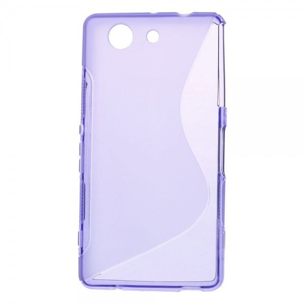 Sony Xperia Z3 Compact Elastisches Plastik Case S-Curved - purpur