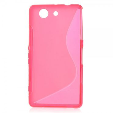 Sony Xperia Z3 Compact Elastisches Plastik Case S-Curved - rosa
