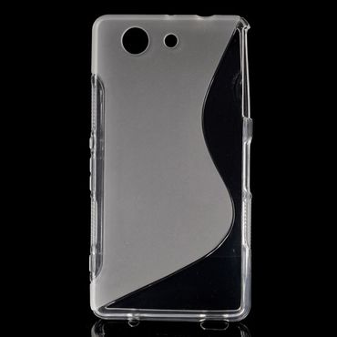 Sony Xperia Z3 Compact Elastisches Plastik Case S-Curved - transparent