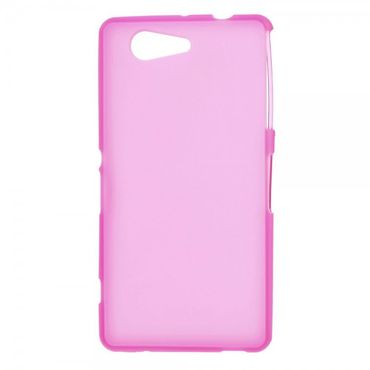 Sony Xperia Z3 Compact Elastisches, weiches Plastik Case - rosa