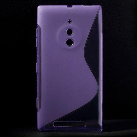 Nokia Lumia 830 Elastisches Plastik Case S-Curve - purpur