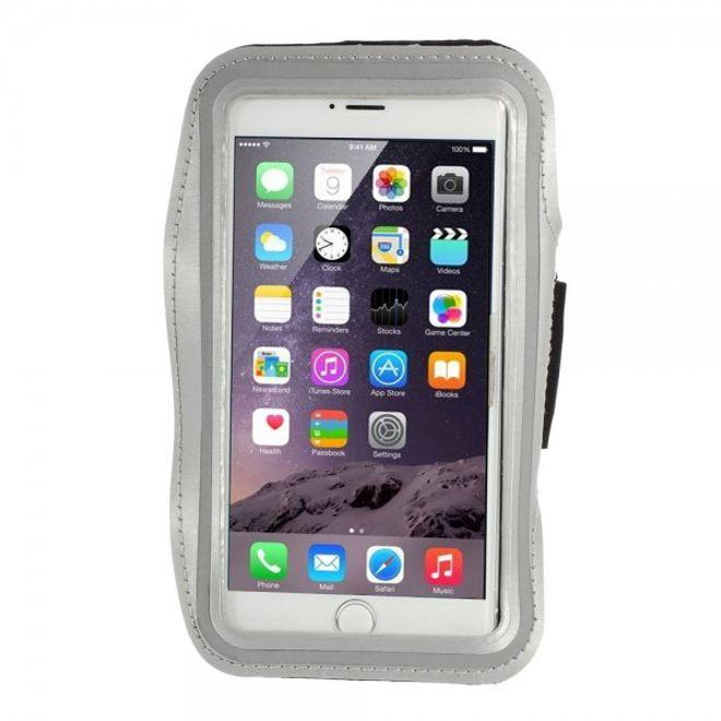 iPhone 6 Plus Sport Armband Case - grau