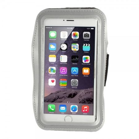 iPhone 6 Plus Sport Armband Case - grau