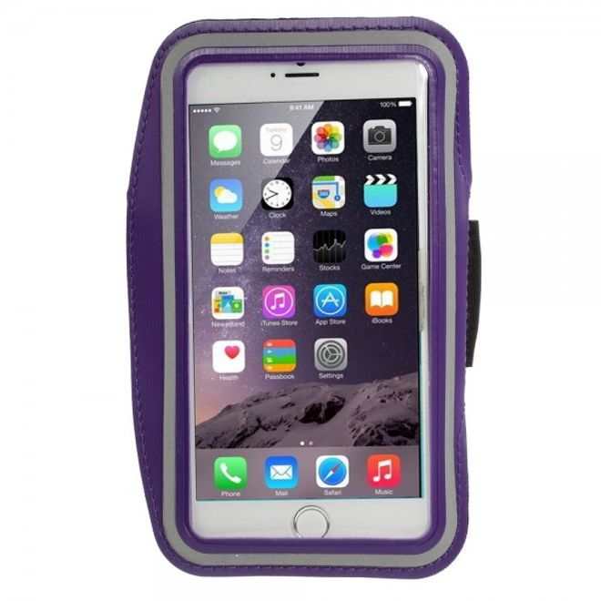 MU Classic iPhone 6 Plus Sport Armband Case - purpur