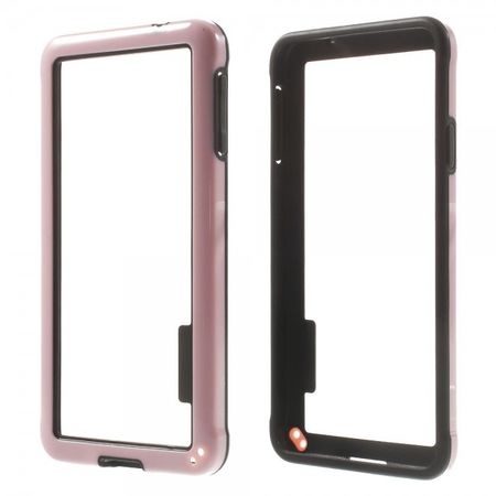 Samsung Galaxy Alpha Glänzender Plastik Bumper - pink