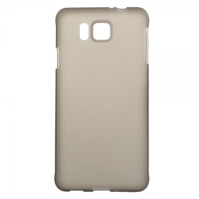 Samsung Galaxy Alpha Elastisches, Mattes Plastik Case - grau