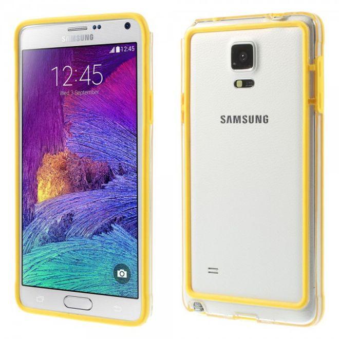 Samsung Galaxy Note 4 Leicht elastischer Plastik Bumper - gelb