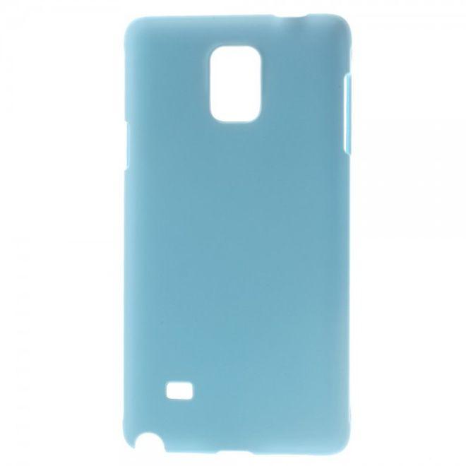 Samsung Galaxy Note 4 Gummiertes Hart Plastik Case - hellblau