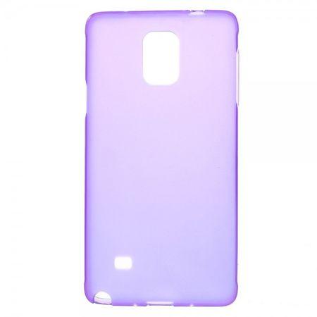 Samsung Galaxy Note 4 Leicht glänzendes, elastisches Plastik Case - purpur