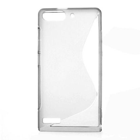 Huawei Ascend G6 Elastisches Plastik Case S-Curve - grau