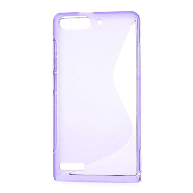 MU Classic Huawei Ascend G6 Elastisches Plastik Case S-Curve - purpur